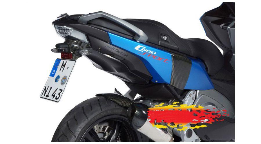 support de plaque min ralogique pour c 600 sport accessoires moto hornig bmw. Black Bedroom Furniture Sets. Home Design Ideas