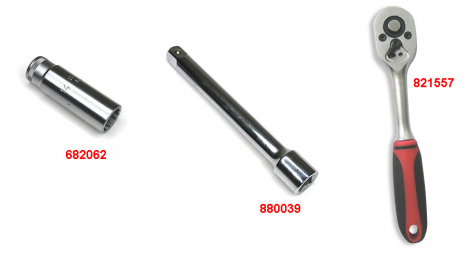 Clé de bougie d'allumage 14mm DOHC pour BMW R1200RT 2010